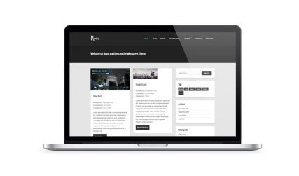 Nova, responsive WordPress blog theme.