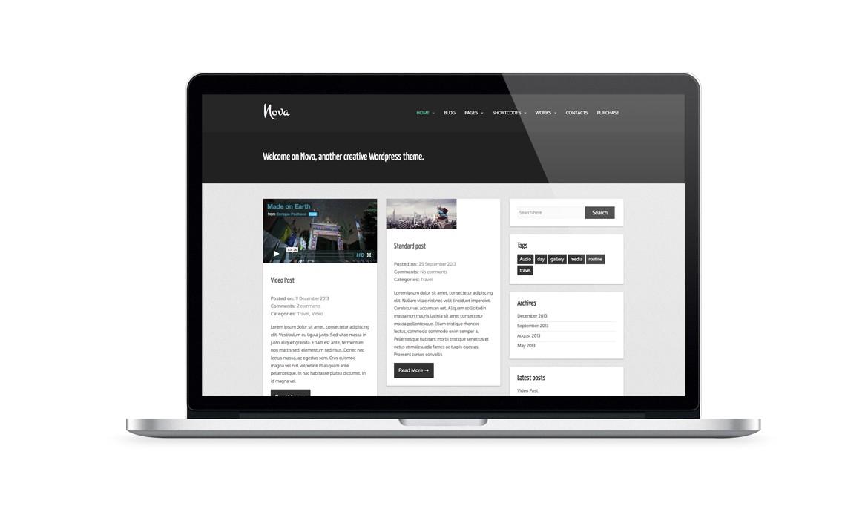 Nova free wordpress theme for a personal blogging and portfolio website nova free wordpress theme maxwellsz