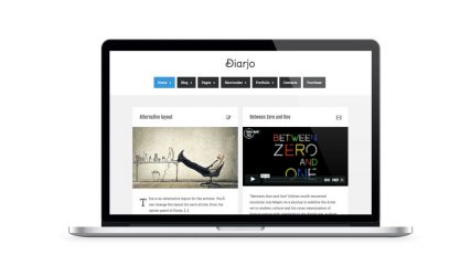Diarjo, creative WordPress blog theme.