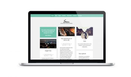 Sean, free portfolio WordPress theme.