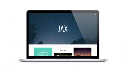 Jax, free creative Wordpress theme.