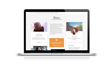 Venice, free WooCommerce WordPress blog theme.